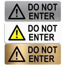 Do  Not Enter-WITH IMAGE-Aluminium Metal Sign-Door,Notice,Shop,Office,Secure